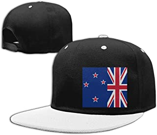 Aiw Wfdnn New Zealand NZ Flag Hip Hop Baseball Cap Adjustable Snapback Hats Men Woman White