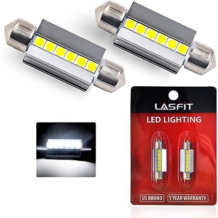 Alla Lighting 2pcs 6000K LED Map,Dome,Courtesy,Door,Trunk Light Bulb White,6411