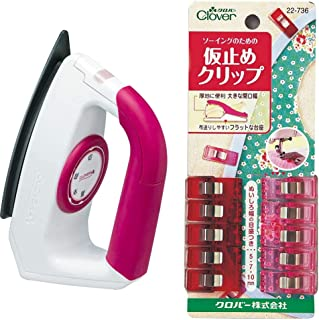 Clover パッチワーク アイロン 57-904 & 仮止めクリップ 22-736【セット買い】
