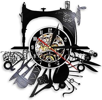 RRBOI Reloj de Pared Máquina de Coser Stitch by Stitch Vinyl ...