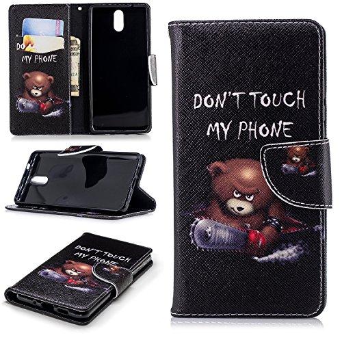 AIOIA Hülle für Nokia 3.1 2018,PU Leder Hülle Tasche Schutzhülle Handyhülle für Nokia 3.1 2018