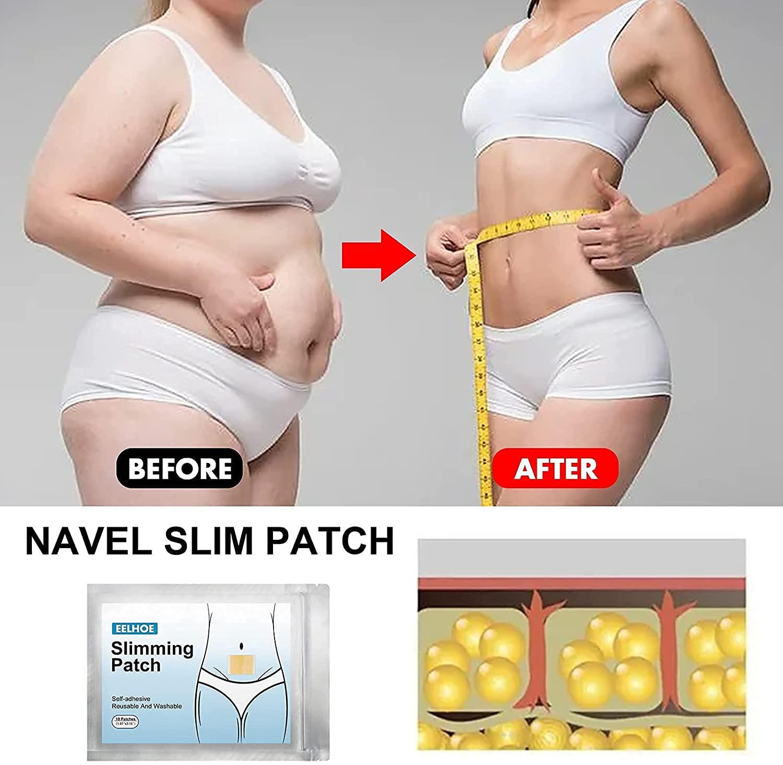 100 pcs Hibana Patch Bellygo Natural Herbal Abdomen Waist Patch, Body Shaping Patch Herbal Body Shaping Patch Sticker for Men Women