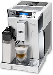DeLonghi ECAM 45.766.W Cafetera Máquina espresso, Independiente, Molinillo integrado, 1450 W, 1,9 L, Acero inoxidable, Blanco
