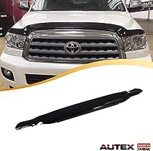 AUTEX Hood Shields Bug Deflector Compatible with Toyota Sequoia 2008 2009 2010 2011 2012 2013 2014 2015 2016 2017 2018 Hood Protector Deflector
