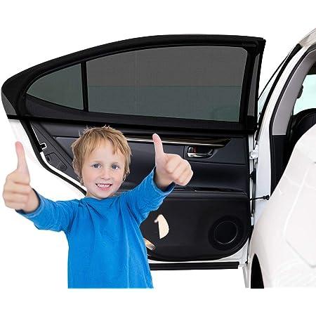 2 Stück Sonnenschutz Auto Baby Mit Uv Schutz Auto Sonnenschutz Autofenster Seitenfenster Windowsox Sonnenblende Sonnenschutzrollo Auto Accessories Kinder Uv Sonnenschutz Autos 40 X 20 Inch Baby