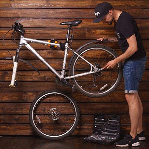 Powerfly Fahrrad Montageständer Fahrradständer zur Wandmontage – Fahrradmontageständer Reparaturständer Reparatur-Wandhalter Ständer - 3
