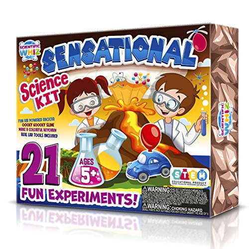 SCIENTIFIC WHIZ Kids Science kit- Make Your own Slime and Other exciting Science Experiments. 20+...