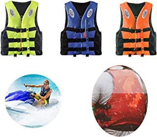 Life Vest,Adults Lifejacket Aid Vest Personal Flotation Device Kayak Ski Surfing Buoyancy Fishing Boating Watersport for M...