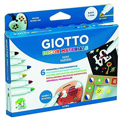 Giotto- Pack de 6 rotuladores, colores surtidos, Multicolor (Lyra 4533)