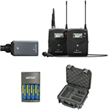 Sennheiser ew 100 ENG G4 Wireless Microphone Combo System A: (516 to 558 MHz) with iSeries Waterproof Sennheiser System Case & 4-Hour Rapid Charger Kit