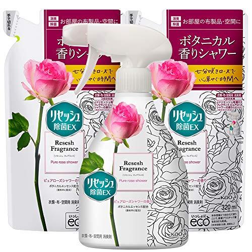 リセッシュ 除菌EX フレグランスタイプ 消臭芳香剤 液体 消臭スプレー 布用 空間消臭用 ピュアローズシャワーの香り 本体 370ml