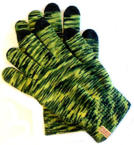 PRESKIN - Farbenfrohe Handschuhe mit Smartphone Funktion für Damen & Herren, Handy Gloves Handschuh warm & bunt, für Touchscreen für Tablet, Telefon & Navi 1grün schwarz