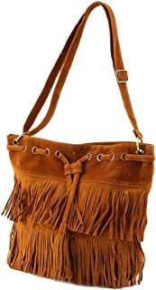 00b73ed80aca1 Femmes imitation daim frange gland sac à bandoulière Sacs à main Messenger  Bag Pratique cordon sac