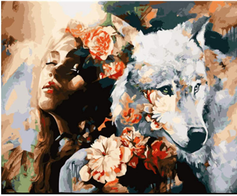 Malen Nach Zahlen Erwachsene DIY Ölgemälde Auf Leinwand Weiß Löwenkopf Porträt Ölfarbe Foto Für Kinder Studenten Erwachsene-Haben Rahmen 16X20 Inch B07PDHMB2J | Bestellungen Sind Willkommen