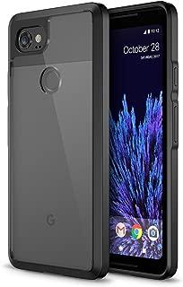 Trianium CLARIUM Series Case for Google Pixel 2 XL (2017) Premium Pixel 2 XL Phone Case Clear Cover [Shock Absorption TPU +PC Back] Reinforced Corner Cushion/Scratch Resistant Protection -Black/Clear