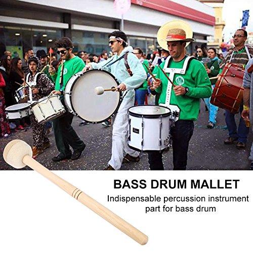 Bnineteenteam Robuster Bass Drum Mallet Stick aus Ahornholz für Percussion Marching Band mit Wollfilzkopf
