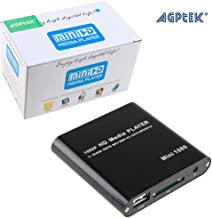 AGPtek Black Mini Full HD 1080P Digital Streaming Media Player-MKV/RM-SD/USB HDD-HDMI CVBS YPbPr