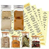 KITCHEN ALMIGHTY 271 Spice Labels: 242 Spice/Herb Names + 29 Blank Labels | Thicker Labels & Backing...