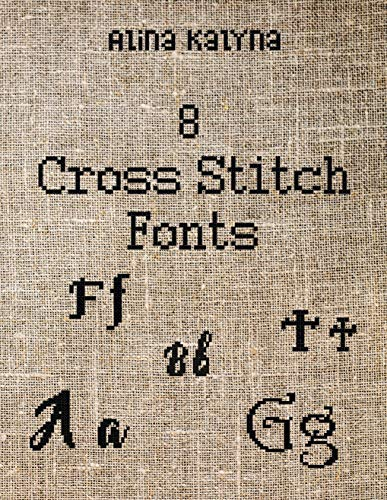 8 Cross Stitch Fonts (English Edition)