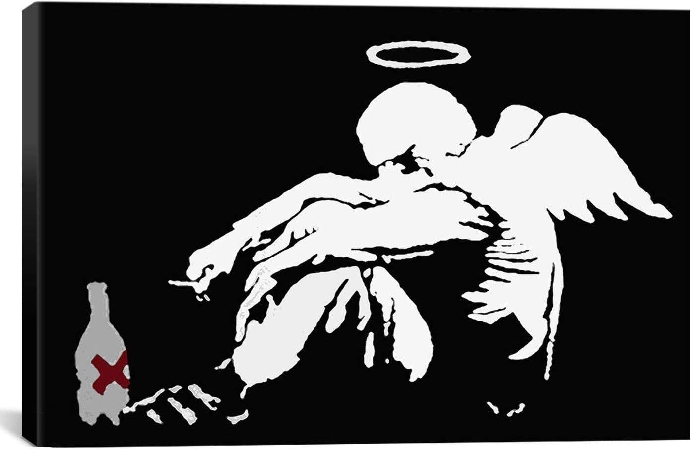 CanvasChamp Banksy Canvas shopping Angel Print Drunken El Paso Mall