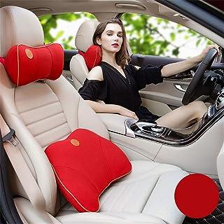 Almohada Lumbar Del Asiento De Confort Para El Aut Amortiguador de asiento de espuma de memoria Erognomic Diseño universal de viaje Fit Facilidad de coches Soporte lumbar amortiguador trasero Reposaca