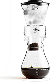 Ice Cold Coffee Maker Cold Brewer Coffee Machine Slow Drip with Adjustable Rate BPA Free Dripper for Coffee and Loose-Leaf...