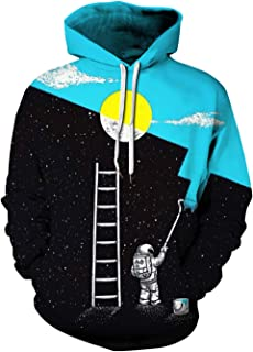 spilling paint in space hoodie