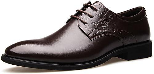 LEDLFIE Chaussures en Cuir Véritable pour Hommes Hommes Hommes Conseils Chaussures en Cuir Confortables pour Hommes e18