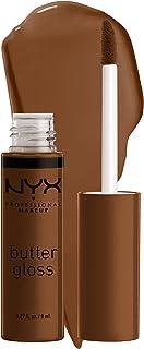 NYX PROFESSIONAL MAKEUP Butter Gloss Brown Sugar, Non-Sticky Lip Gloss - Caramelt (Medium Brown)
