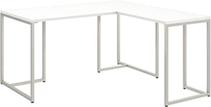 Office by kathy ireland Method 60W L Shaped Desk with 30W Return in White