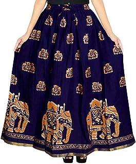 Khushi Print Women's Cotton Skirt (Multicolour)