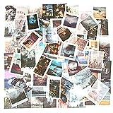 O-Kinee Adesivi, Adesivi per Scrapbooking, Stickers Vintage, Vintage Stickers Scrapbooking, Adesivi Piccoli Decorativi per Laptop, Buste, Album Foto, Agende, Quaderni Nero