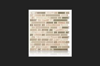 Smart Tiles Sm1043-6 Wall Tile, Vinyl, Bellagio Sabbia, Beige And Brown, 10