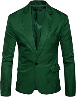 Pingtr Men's Premium Tuxedo Single Breasted One Button Blazer Formal Business Jacket Slim Fit Suits Coat Smart Formal Dinn...