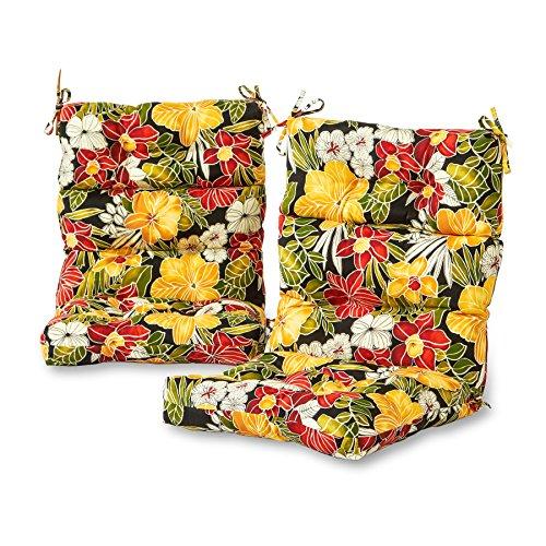 Greendale Home Fashions Outdoor High Back Chair Cushion Set in Aloha...