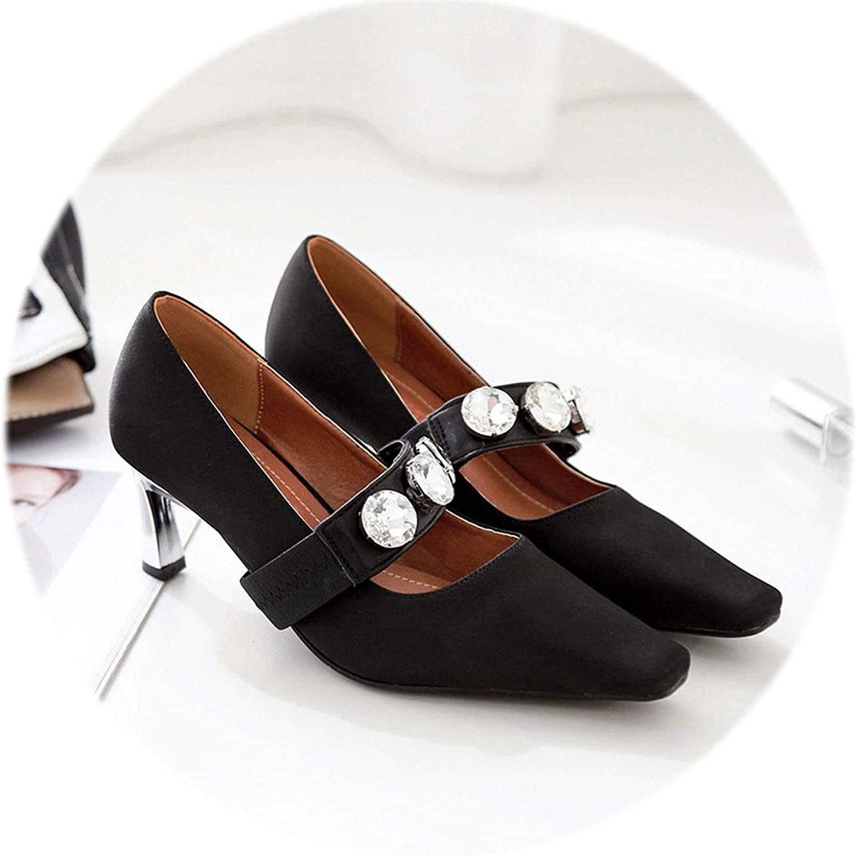 Gooding life High Heels Women Pumps Metal Strange Heel Ladies shoes Elegant Silk Party shoes