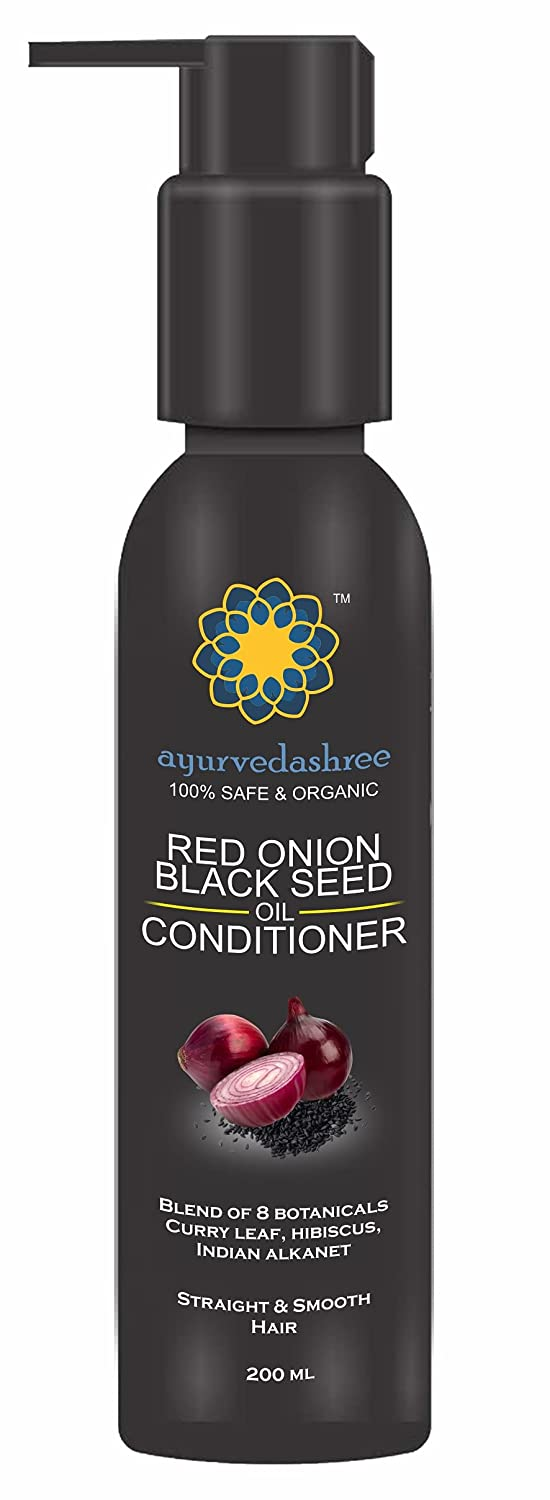 AYURVEDASHREE Red Onion Our shop most popular Oil Black ML 200 Conditioner Seed Kansas City Mall