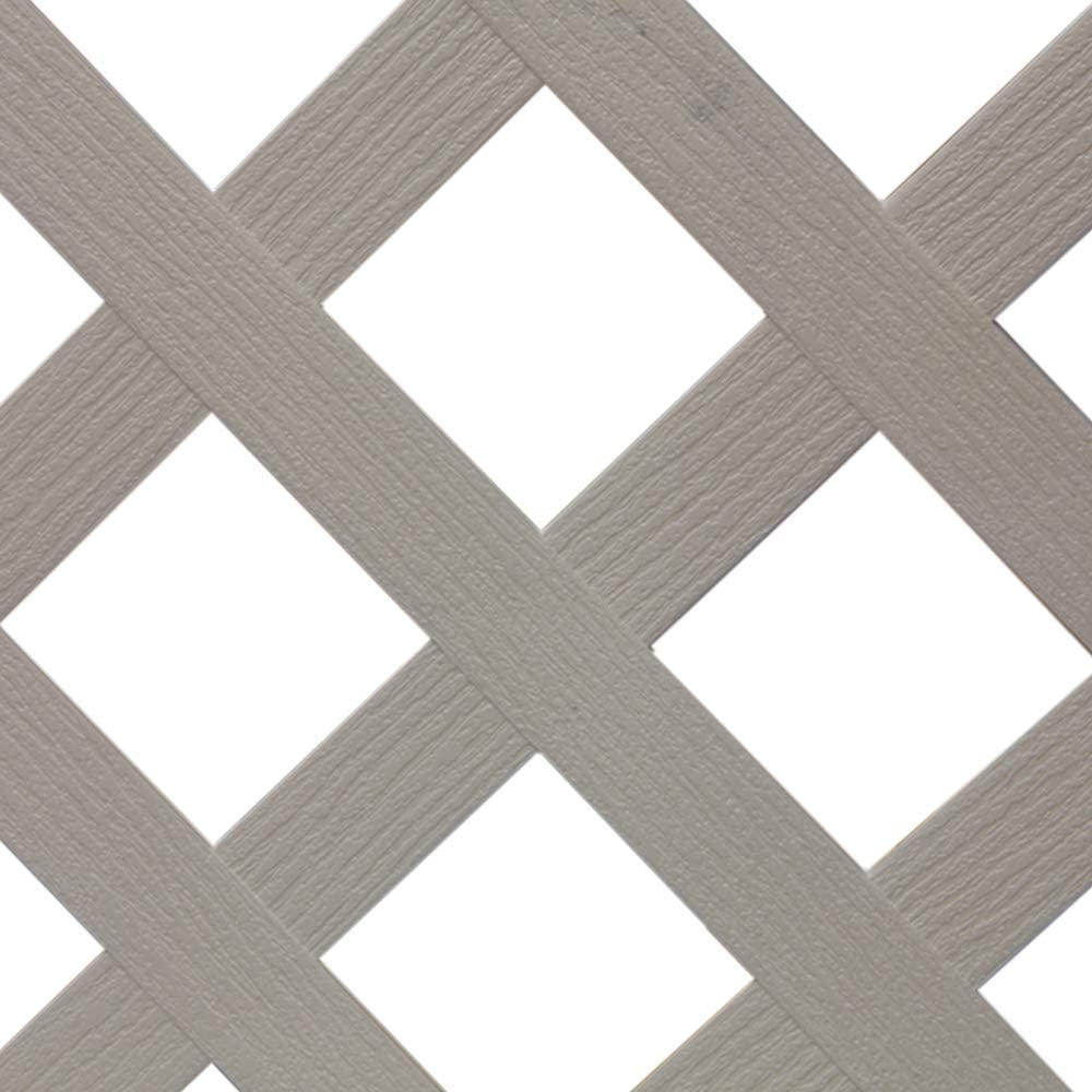 White Plastic Lattice wholesale Fence 48 in. for Genuine Free Shipping Use Pool with Fanta-Sea