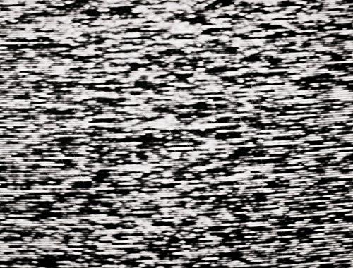 JP London pmur2413ustrip schälen und Stick Abnehmbare Wandtattoo Aufkleber Wandbild, Poltergeist TV Signal White Noise, 4x 0,9m