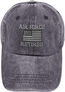 Vintage Washed Hat Us Air Force Retired Embroidery Cotton Dad for Men & Women