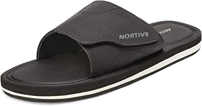NORTIV 8 Men's Slide Sandals Comfort Lightweight Beach Shoes