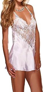 DishyKooker Women Sexy Hollow Deep V Collar Dress + Briefs