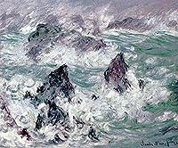 ベルイルDIY油絵描画キャンバスで数字キットクロードモネストームでペイントブラシ装飾ギフト