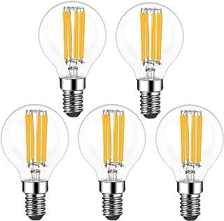 Klarlight Bombilla de filamento LED E14 6 W regulable blanco cálido 2700 K G45 SES pelota de golf bombillas Edison pequeña vintage equivalente a bombillas incandescentes de 35 W-45 W (5 unidades)