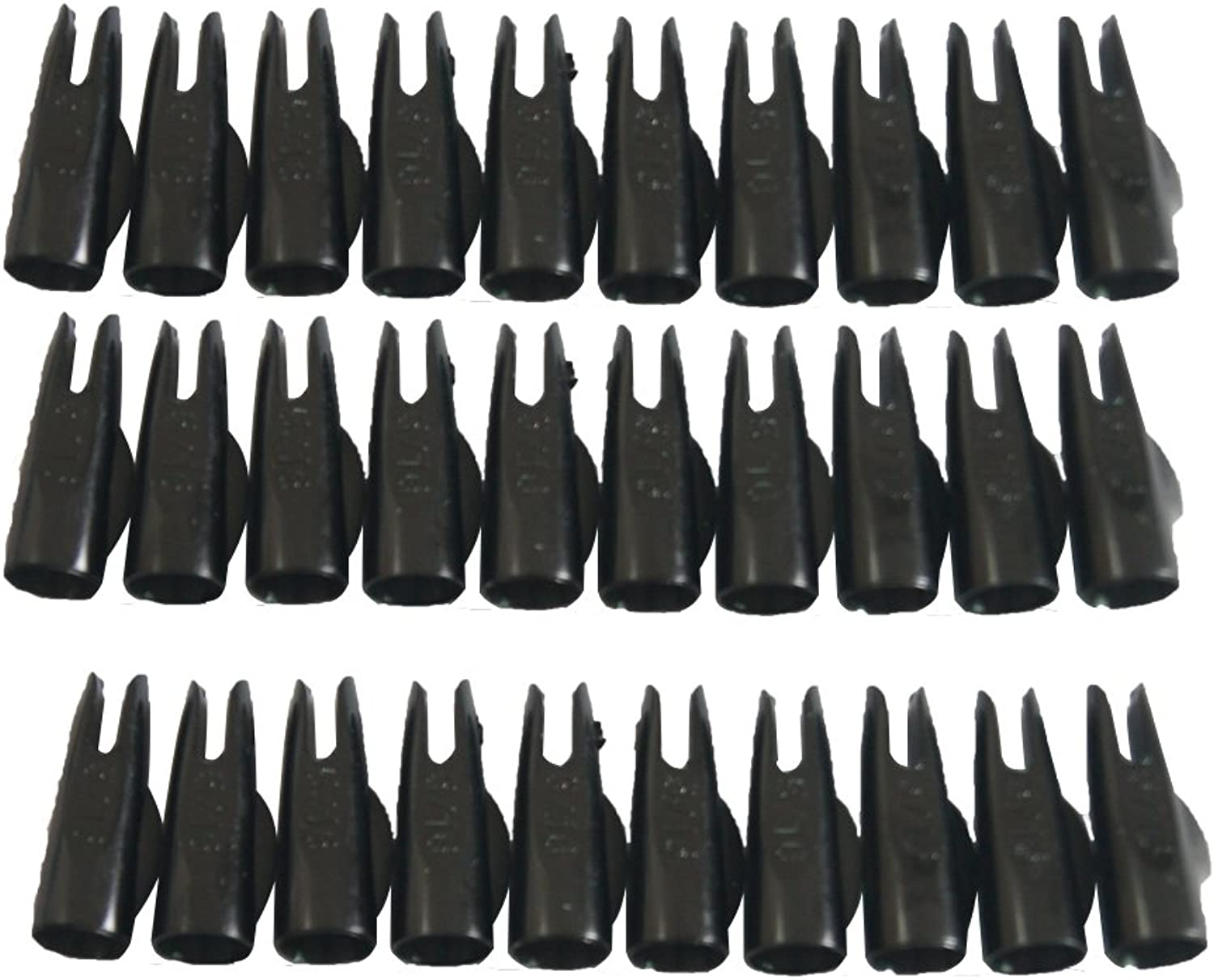 (Black) - Jiexi Hwyp Archery Hunting Compound Bow Plastic Arrow Nocks for 0.8cm Arrows Pack of 50