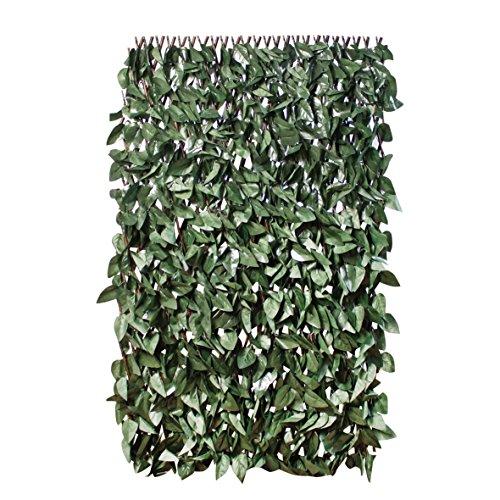 GardenKraft 26140 2x1m Efeu-Hecke in Dunkelgrün Künstliche Hecke Blätterhecke | Ausziehbarer Rahmen | UV-Schutz vor Ausbleichen | Sichtschutzhecke |Gartenhecke Gartengestaltung