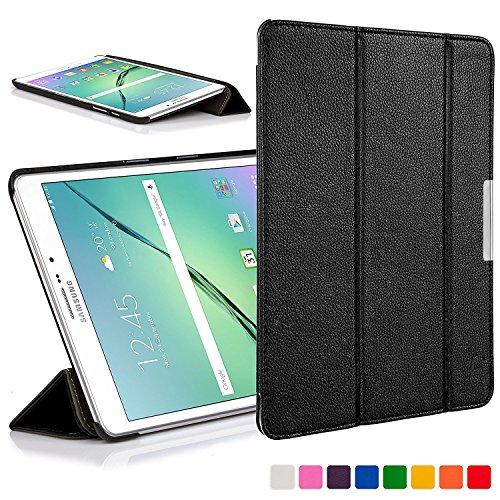 samsung s2 tablet 8 Forefront Cases Smart Case per Samsung Galaxy Tab S2 8.0 Custodia Caso Cover Pieghevole - Ultra Sottile Leggero con Protezione Dispositivo Completa e funzione Auto Sveglia Sonno (Nero)