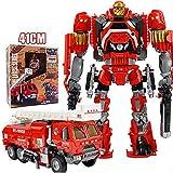NDYD Juguetes de ensamblaje de deformación de los niños, deformación Robot Fire Truck Flexible y Var...