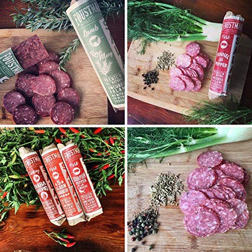 Foustman's Salami Variety Mix (6 Pack) Artisan, Nitrate-Free, Naturally Cured