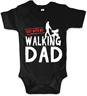 net-shirts Organic Baby Body mit The Walking DAD Aufdruck Spruch lustig Strampler Inspired by The Walking Dead Babybekleidung aus Bio-Baumwolle mit Zertifikat